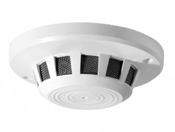 a covert camera hidden in a common smoke detector